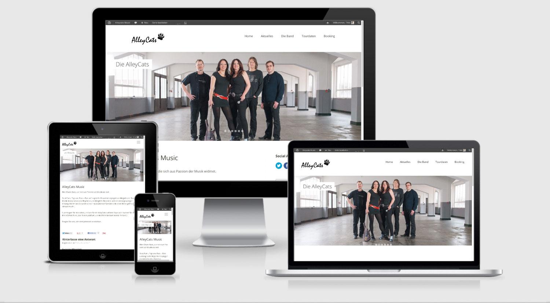 Die neue Website der AlleyCats - Responsive Design, Retina-Display Unterstützung und Off-Canvas Navigation bei Smartphones