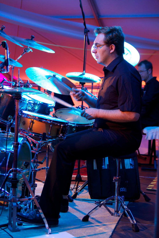 Die AlleyCats in Mittweida bei der Firma ACSYS - Michael Roth an den Drums